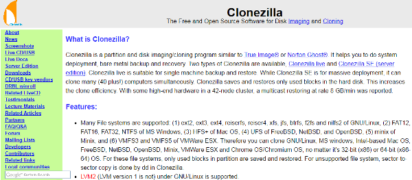 Top 6 Open Source Disk Cloning & Imaging Software - Codeable